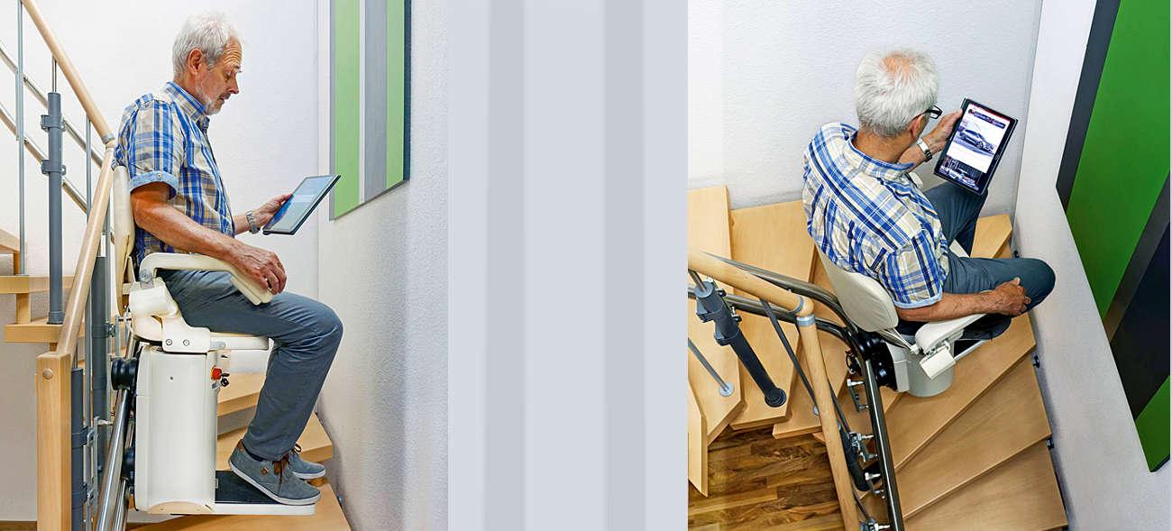 Maßgeschneiderte Treppenlifte sorgen für einen bequemen und sicheren Etagenwechsel im Alter