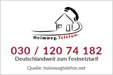 Die Mitarbeiter des Heimwegtelefons sind deutschlandweit zum Festnetztarif unter der Nummer 030 / 120 74 182 erreichbar. Logo: Heimwegtelefon