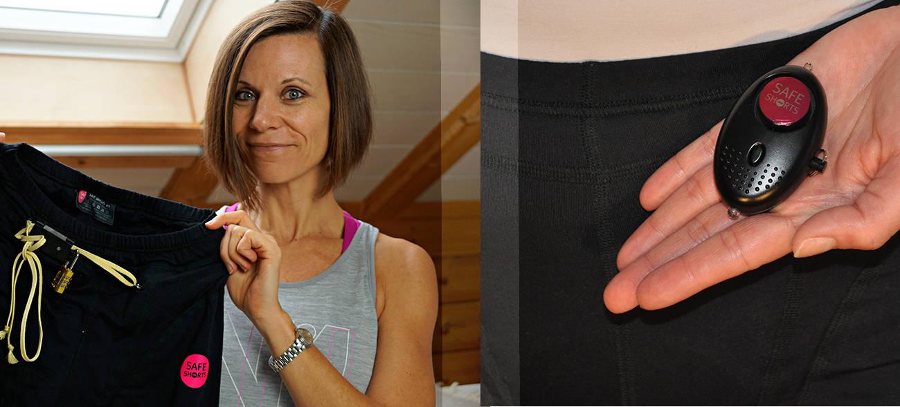 Die Safe Shorts ist mit einem Taschenalarm ausgestattet