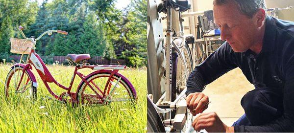 """""""Legaler Profi-Aufknacker"""" von VdS (im Bild rechts) bei einer der vielen Prüfungen, die Fahrradschlösser in den Laboratorien des Instituts bestehen müssen."""