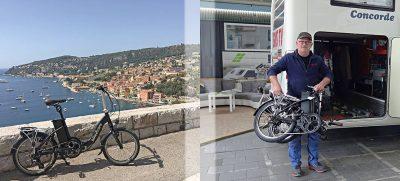 Urlaubsglück mit Ausblick: Auch im Urlaub sorgt ein kompaktes Faltrad mit Elektroantrieb für viel Bewegungsfreiheit.Urlaubsglück mit Ausblick: Auch im Urlaub sorgt ein kompaktes Faltrad mit Elektroantrieb für viel Bewegungsfreiheit.