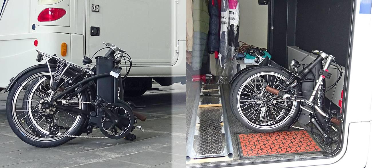 Ein Faltrad mit Elektroantrieb lässt sich in jedem Kofferraum transportieren