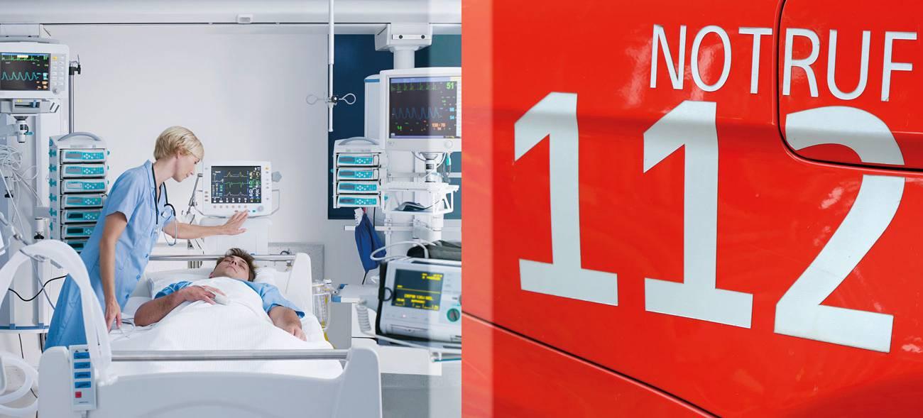 Symptome einer Blutvergiftung? Sofort den Notruf 112 wählen!