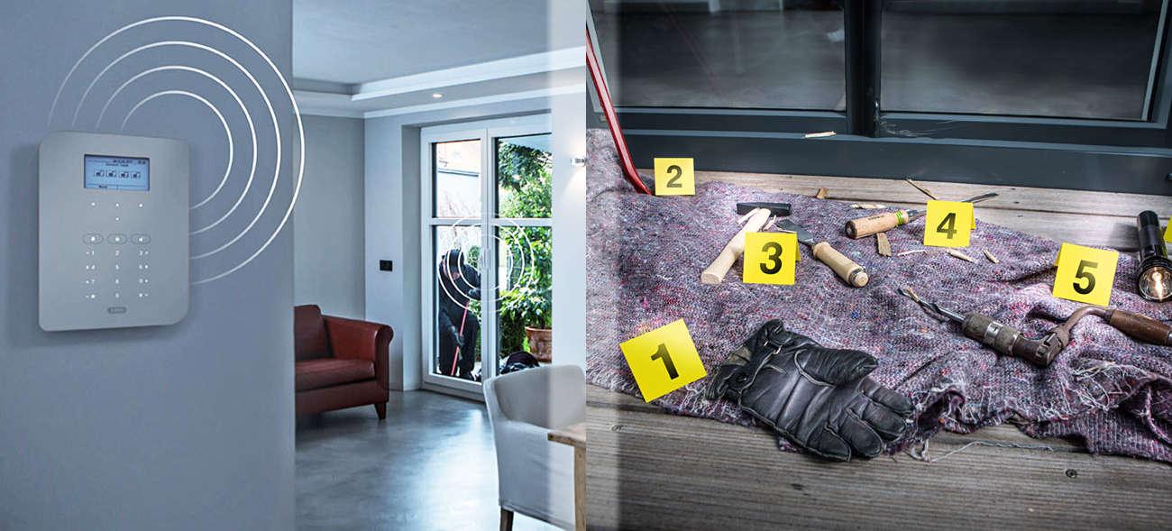 Mechatronischer Einbruchschutz: Funkbasierte Alarmanlagen dienen als Sicherheitszentrale in Haus und Wohnung