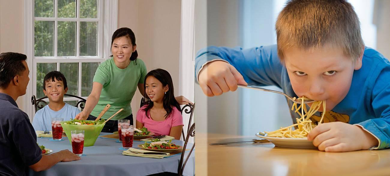 Kinder essen lieber in Gesellschaft als allein