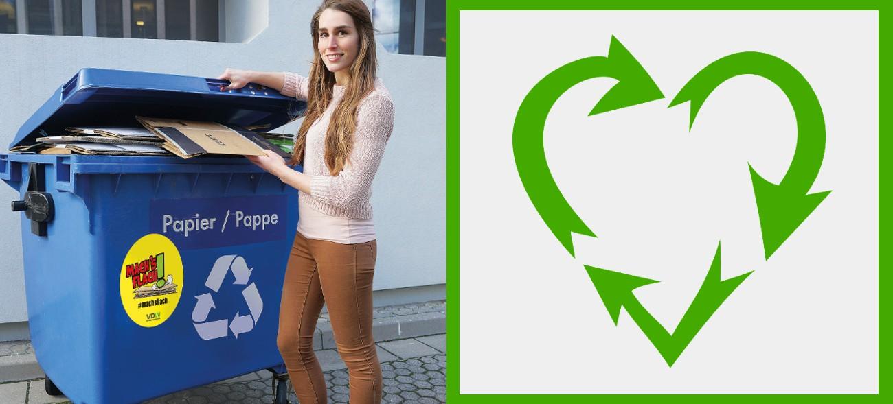 """""""Mach's flach!"""" – für ein effizienteres Recycling."""
