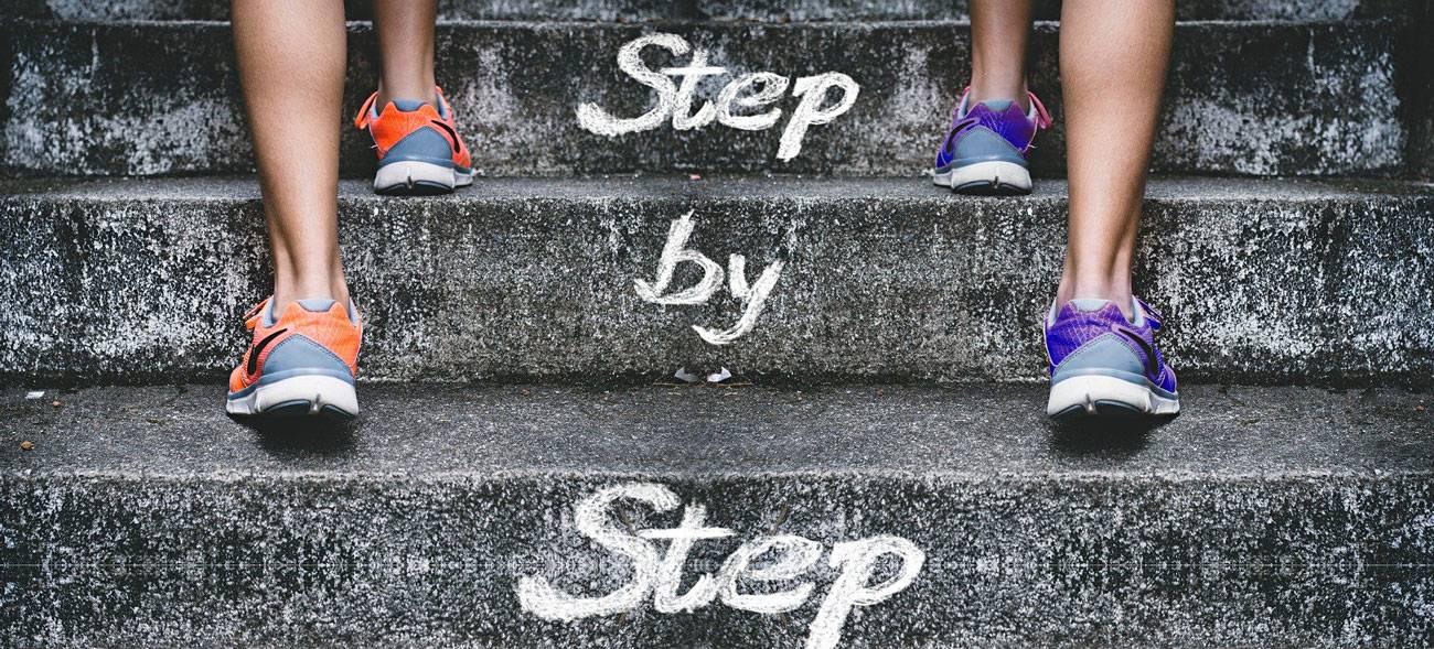 Gute Vorsätze: Schritt für Schritt zum Ziel