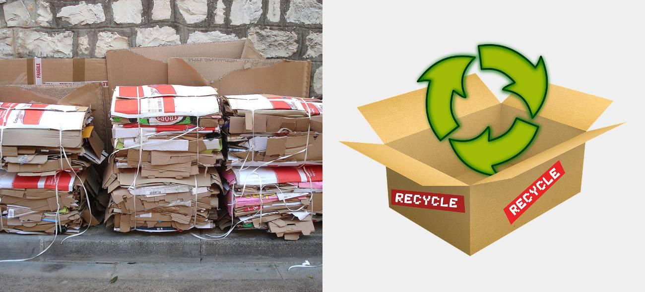 Flache Kartons ermöglichen ein effizientes Recycling