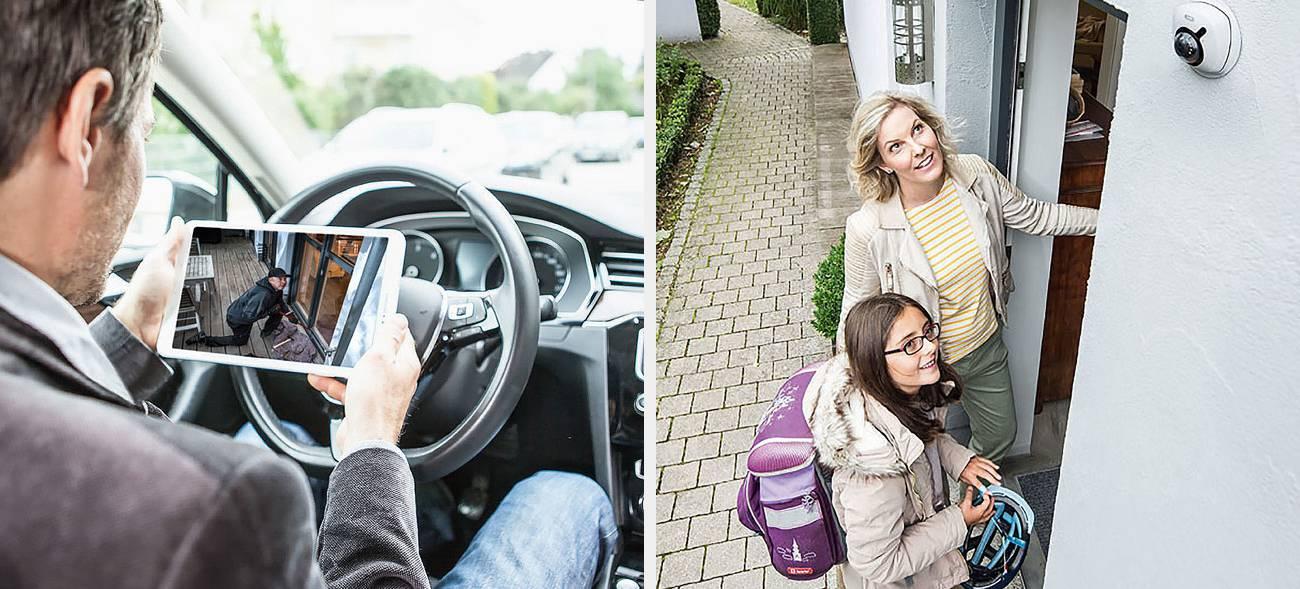 Smarte Türöffner, Alarmanlagen und Videoüberwachungen bringen Sicherheit für die ganze Familie.