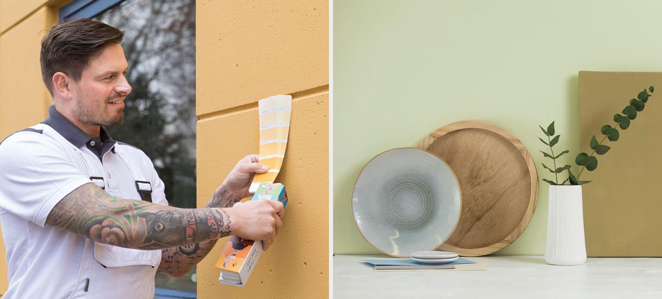 Wandfarben ohne Mikroplastik für drinnen und draußen