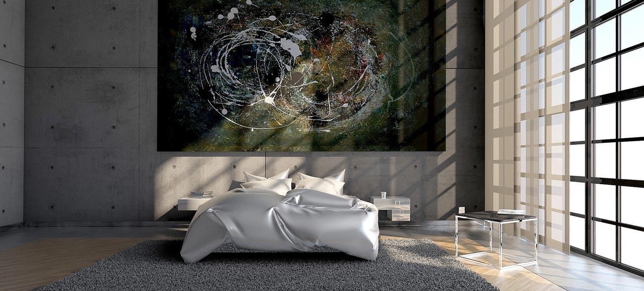 Ein aufgeräumtes Schlafzimmer unterstützt den ruhigen Schlaf