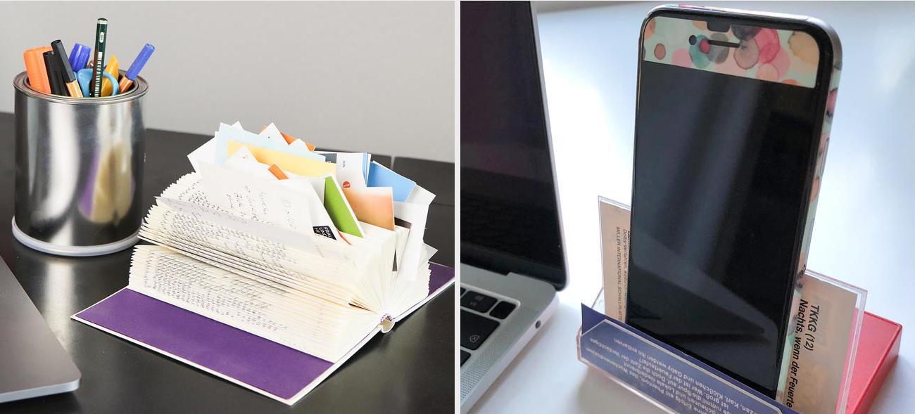 Ein aufgeräumter Schreibtisch erleichtert die Arbeit und das Lernen